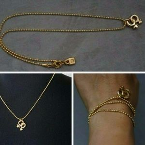 New UNOde50 Gold War of Sexes Ball Chain Necklace
